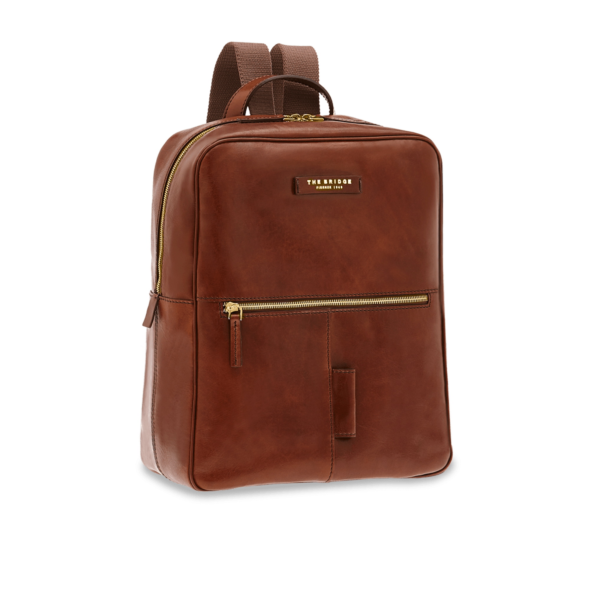 55f61504e0 ZAINO THE BRIDGE PASSPARTOUT UOMO BACKPACK 06423501 14 MARRONE ...