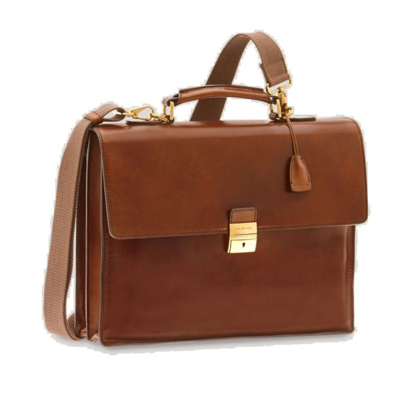 CARTELLA THE BRIDGE BRIEFCASE 06252701 14 MARRONE