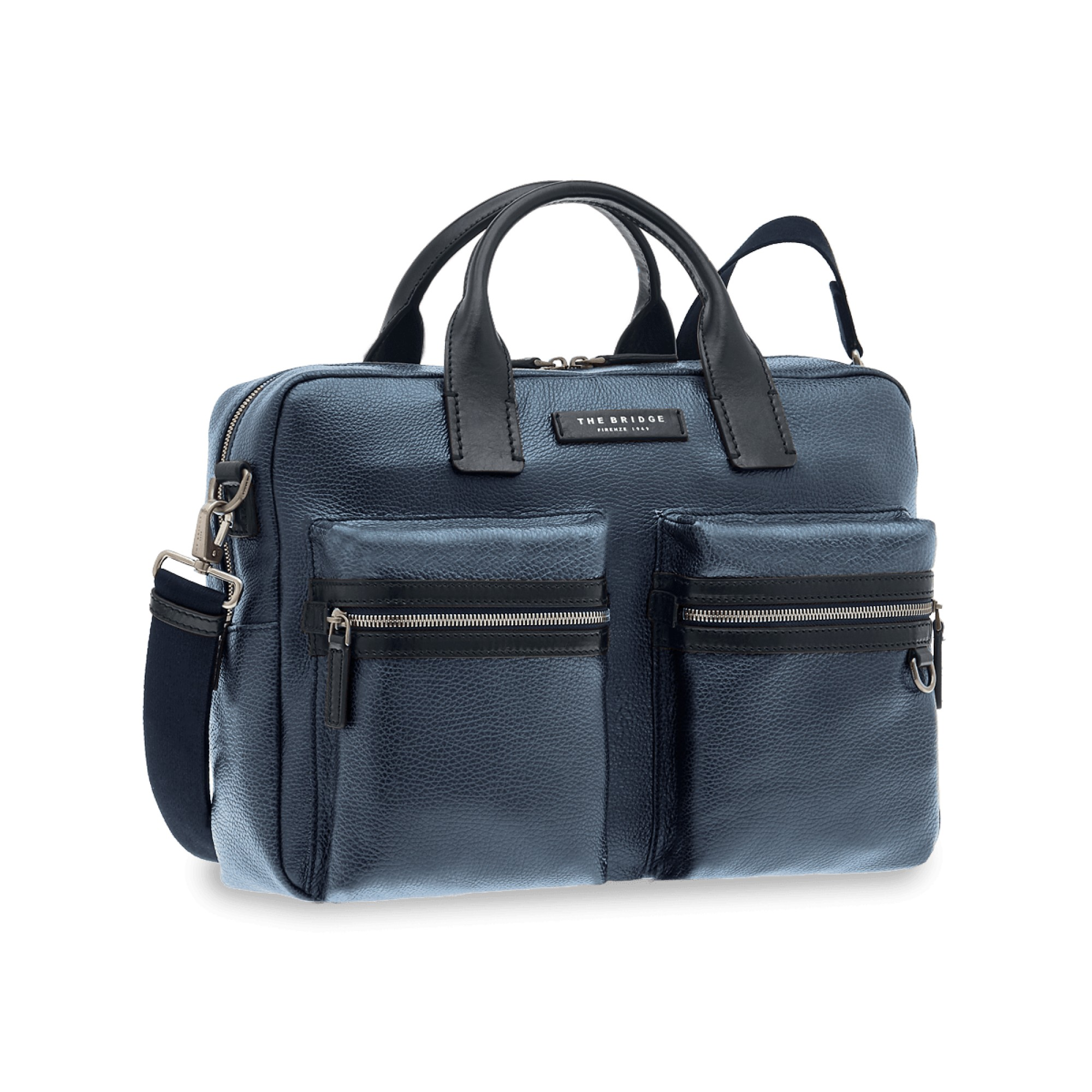 CARTELLA THE BRIDGE KEROUAC BRIEFCASE 0611282F 79 BLU NAVY/RUTENIO