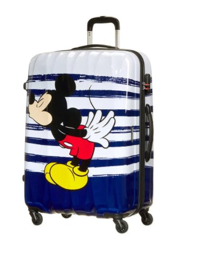 TROLLEY AMERICAN TOURISTER DISNEY LEGENDS CABIN SIZE SPINNER 19C*019 MICKEY KISS