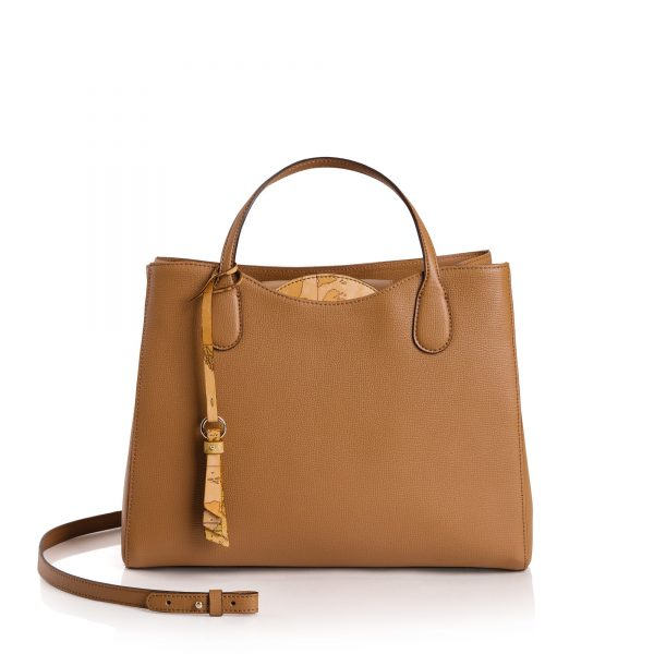 BORSA ALVIERO MARTINI GEO CLASSIC THE SPRING PETAL LARGE HAND BAG LGI848519 TOBACCO
