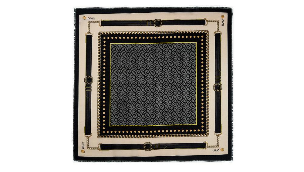 3b4aa12a9907 Foulard Liu Jo stampa logo A19242 T0300 nero – Buonocore Borse
