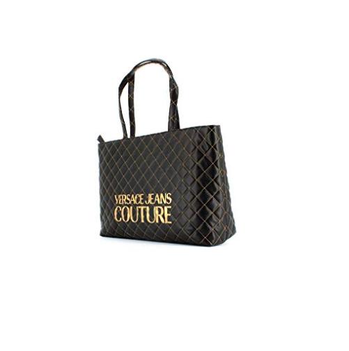 6fad5b4ead Borsa Versace Jeans Couture shopper trapuntata E1VUBBB7 899 nero ...