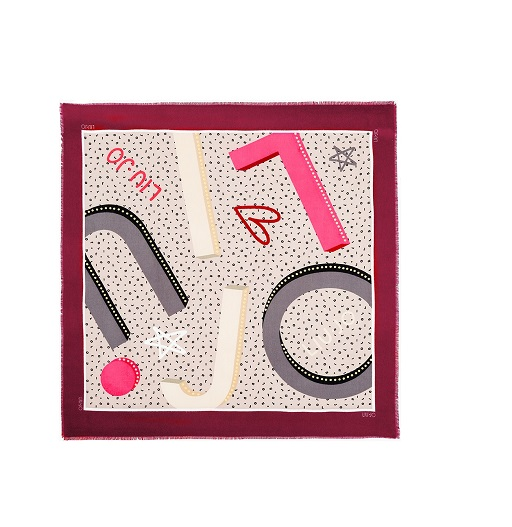 Sciarpa Liu Jo foulard stampa 269064 T0300 dark red