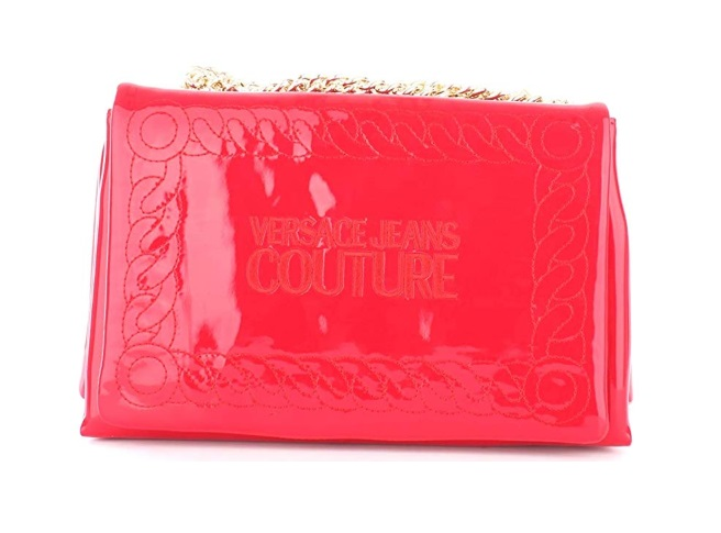 moderno ed elegante nella moda varietà larghe migliore online Borsa Versace Jeans Couture tracolla vernice E1VUBBW4 500 rosso