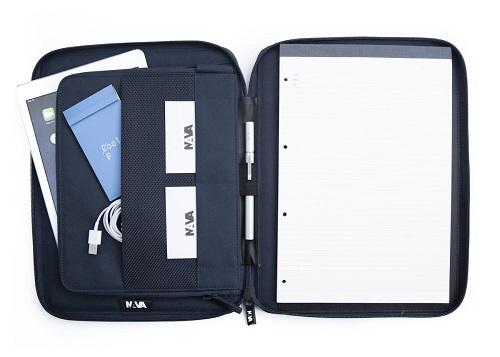 Portablocco Nava aero formato A4 zip around AE875 black